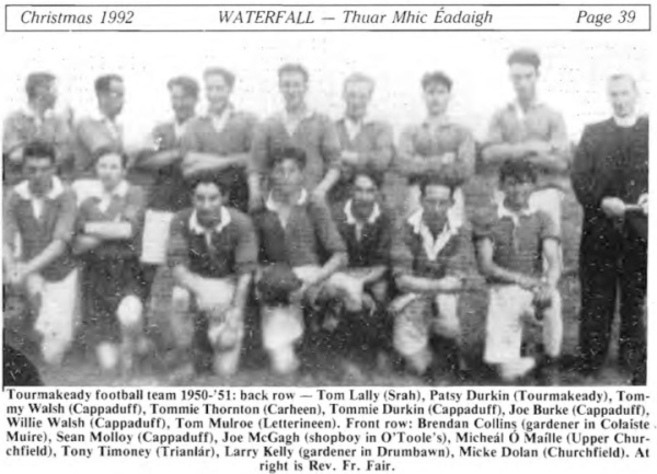 1950-51 Tourmakeady football team